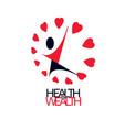 charity and volunteer conceptual logo symbol vector image