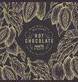 cocoa bean tree banner template chocolate cocoa vector image vector image