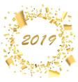 confetti circle blur 2019 vector image