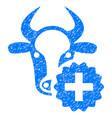 cow create icon grunge watermark vector image vector image