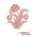 cross stitch flowers ready-made template for vector image vector image
