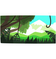 deep tropical jungle background tropical forest vector image vector image