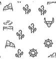 desert sandy landscape seamless pattern vector image vector image