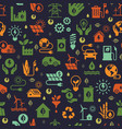 design with seamless ecology pattern and vector image