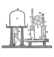 double barrel air pump vintage vector image vector image
