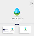 drop water or green water logo template vector image