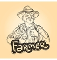 farm farming logo design template farmer vector image vector image