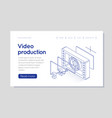 film strip counter with countdown isometric vector image vector image