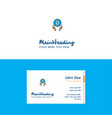 flat globe in hands logo and visiting card vector image