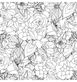 Floral seamless pattern background with leaves vector image vector image