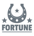 fortune logo vintage style vector image vector image