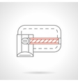 Gate barrier icon flat line icon vector image vector image
