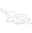 Georgia Black White Map vector image