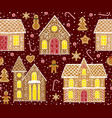 gingerbread houses vector image