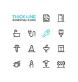 Home Road Repair - Thick Line Icons Set vector image vector image