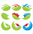 homes and houses vector image vector image