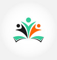 humanity education people logo vector image vector image