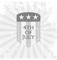Independence Day 4th of July flat Symbol vector image