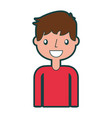 isolated cute icon boy vector image vector image