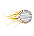 isolated golf ball with a fire effect vector image