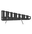 isolated marimba icon musical instrument vector image vector image