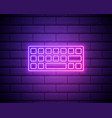 keyboard neon icon simple thin line outline of vector image vector image