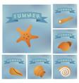 kind sea shells sticker silhouette vector image vector image
