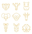 line african animals icon set vector image