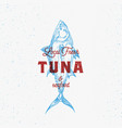local fresh tuna and seafood abstract sign vector image vector image