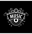 logo music vector image vector image