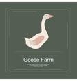 Logotype of goose farm vector image