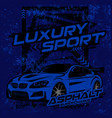 luxury sport with grunge abstract style background vector image vector image