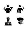 mens health glyph icons set vector image vector image