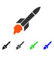 missile flight flat icon vector image