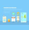 modern bathroom interior banner template vector image vector image