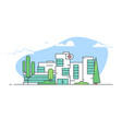 modern city hospital building vector image