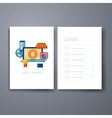 Modern flat icon online shopping and virtual vector image vector image