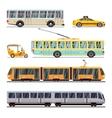 Municipal city transport flat icons set vector image vector image
