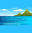 ocean at daytime landscape scene with mountain vector image vector image