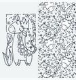 oh summer cute little giraffe cartoon hand drawn vector image vector image