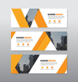 Orange triangle abstract corporate business banner vector image vector image