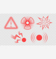 pain symptom icons set vector image