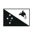 papua new guinea flag monochrome on white vector image