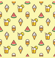 pattern ice cream watermelon slice fruit vector image vector image