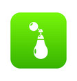 perfume bottle paris icon green vector image vector image