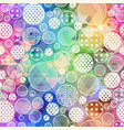 rainbow color circle pattern vector image vector image
