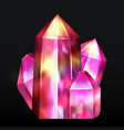 realistic image of a gemstone is amethyst vector image