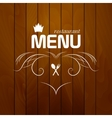 Restaurant menu on wood background vector image