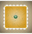 Retro background with pattern vector image