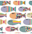 seamless pattern with decorative abstract vector image vector image